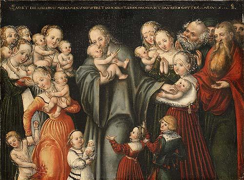 Jesus & children: Lucas Cranach, 16thC