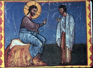 Jesus & the rich man, King Gagik and Kars Gospel, 11thC, Armenia