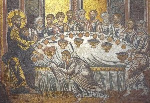 Last Supper mosaic, Cathedral Monreale, Sicily 12th-13thC
