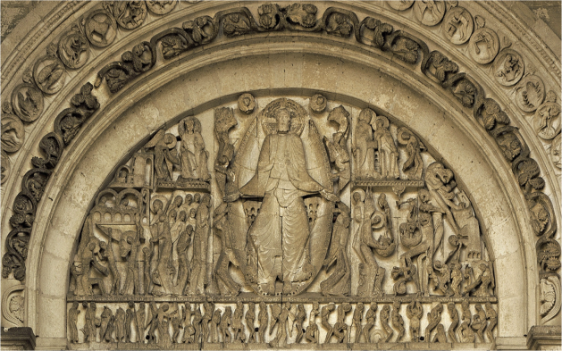 Second Coming, Gislebertus, Autun Cathedral, France 12thC