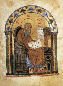 John the Evangelist,, Carolingian miniscule, 12thC