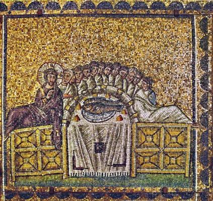 Last Supper, Sant' Apollinare Nuovo, Ravenna, 6thC