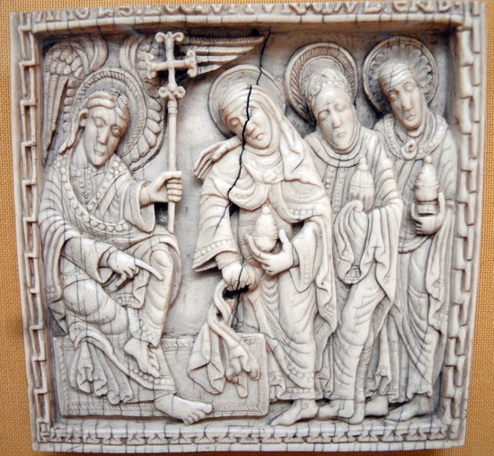 Women at the tomb, Medieval ivory, Hermitage, St. Petersburg
