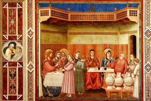 Wedding at Cana, Giotto, 14th C
