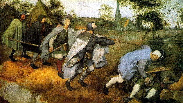 Pieter Bruegel the Elder, The Blind Leading the Blind, 16thC