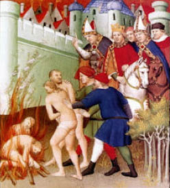 Burning the Cathars, 13thC