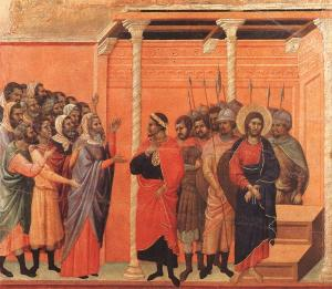 Christ accused by the Pharisees, Duccio, 14thC