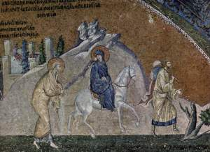Journey to Bethlehem, Chora Church, Istanbul, 14thC