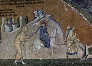 Journey to Bethlehem, Chora Church, Istanbul, 14thC