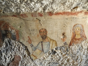 Paul with Theokleia, Ephesus cave, 6thC