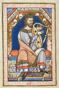 David the psalmist, Westminster Psalter, circa 1200