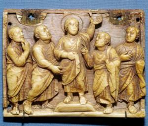 Ivory panel, Roman sarcophagus, circa 4thC