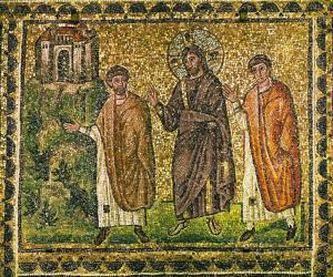 Road to Emmaus, Sant'Apollinare Nuovo, Ravenna, 6thC