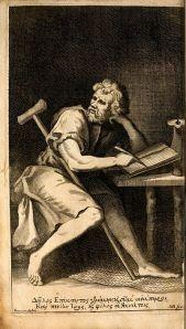 Epictetus, Oxford frontispiece, 1751