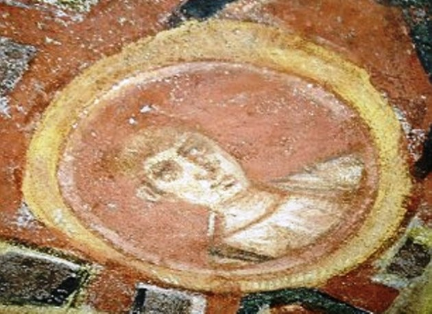 Earliest known image of John, catacomb  of Saint Thecla, 4thC, discovered 2009