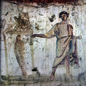 Roman catacombs fresco, 3rdC