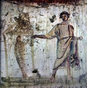 Roman catacombs fresco, 3rdC