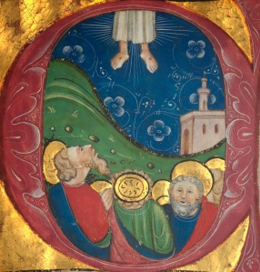 Ascension, illuminated ms, Italy, 15thC