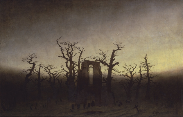 Abbey in an Oak Forest, Caspar David Friedrich,  19thC