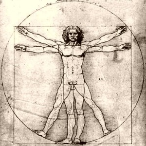 Vitruvian man,  Leonardo da Vinci, 15thC