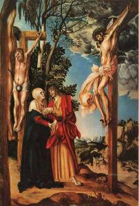 Mary and John at the crucifixion, Lukas Cranach the Elder, 16thC