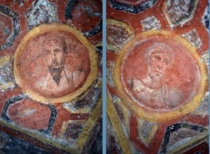 Paul and Peter, catacomb of Thecla, 4thC