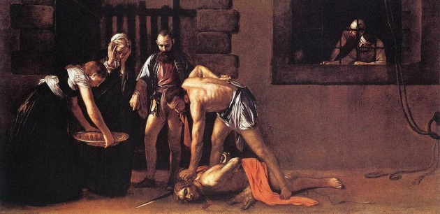 Beheading of John the Baptist, Caravaggio, 1608
