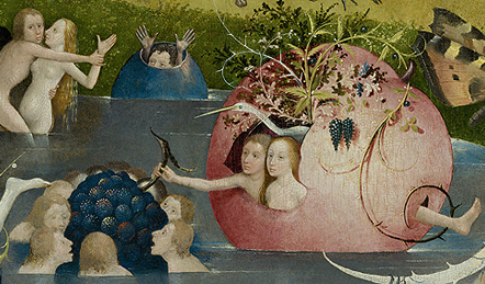 Garden of Earthly Delights (detail), Hieronymus Bosch, 15thC