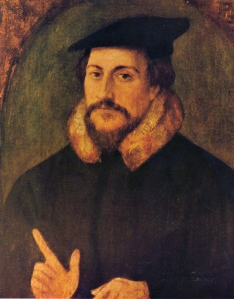 Portrait of Calvin, attributed to Hans Holbein, 16thC