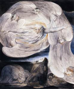 God rebukes Job from the whirlwind, William Blake, 18thC